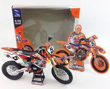 RYAN DUNGEY REDBULL KTM SXF 450 - 1:10 Die-Cast Motocross Mx  Toy Model Bike