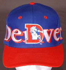 Vtg Denver Broncos Hat/Cap-Logo 7-Embroidered-Snapback-NFL-Football-Old Logo-CO.