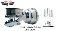 "Tri-Five 8"" Dual Chrome Power Brake Conversion & Wilwood Master Cylinder Kit"