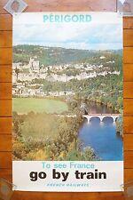 1975 SNCF French National Railways Original Railway Poster Perigord