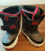 Toddler Boy Star Wars Rebels Winter Snow Light-Up Boots Shoes S 5-6 Black Red