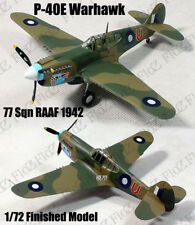 WWII P-40 E Warhawk Australia air force 77 Sqn 1/72 finished plane Easy model