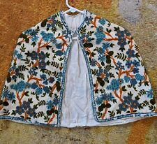 New listing Rare Vintage Wool Embroidered Short Cape Cowl, 1950s Free Size