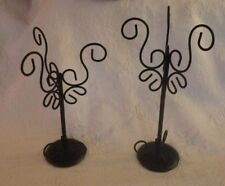 "Set of 2 Black Jewelry Stands Stand 14"" Tall"