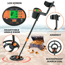 Waterproof LCD Metal Detector Deep Sensitive Search Gold Digger Hunter Coil US