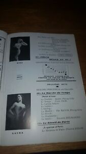 Vintage French Programme With Risque Pictures and a ticket coupon. Nice pictures