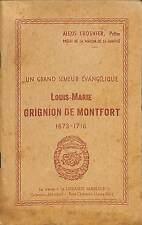 MONTFORT-LA-CANE BROCHURE LOUIS-MARIE GRIGNION ALEXIS CROSNIER 1944