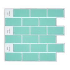HUE Peel and Stick Subway Tile Backsplash for Kitchen,Aqua Backsplash Tile