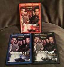 SLEEPER CELL DVDS SHOWTIME DRAMA SEASON 1 THREE DISC SET DISC 1, 2 AND 3