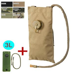 Klassischer tactical MOLLE Trinkrucksack + 3L Blase flach trekking camping army
