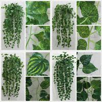 Artifical Silk Garland Vine Ivy Leaf Foliage Hanging Garlands Party Home Decor