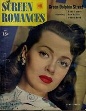 LANA TURNER DONNA REED  FULL COLOR PAGE ALAN LADD  SCREEN ROMANCES OCT 1947