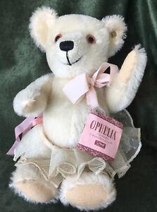 """1986 Steiff Teddy Bear BABY OPHELIA Mohair 11"""" Button in Ear & Hang Tag 0225/27"""