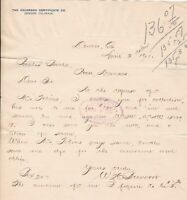 U.S. Allan=Pfeiffer Chemical Company St.Louis 1901 Paid Invoice Letter Ref 42379