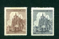 Czechoslovakia Bohemia & Moravia Stamp Set, Architectural, Palace Sc#88-89, Mint