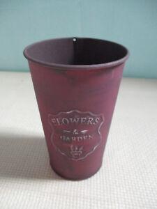 Flower Vase Round Metall