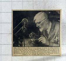 1949 The Professor, Gs Seymour Worthing Model Engineer Master Craftsman