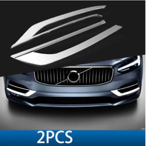 Volvo S90 front bumper stainless steel decoration strip 2016-2020 2pcs/set