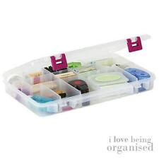 Creative Options Storage Case Box Organizer Plastic Adjustable Divider Clear