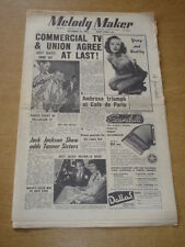 MELODY MAKER 1955 SEPTEMBER 24 COMMERCIAL TV AMBROSE CAFE DE PARIS JACKSON +