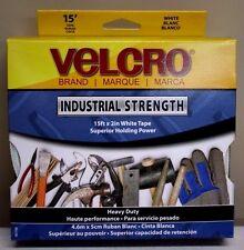 "Velcro Industrial Strength Hook and Loop Tape White 90198 15' x 2"" roll NIB"