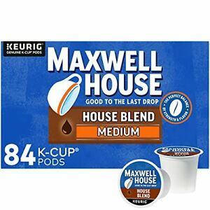Maxwell House House Blend Medium Roast K-Cup Coffee Pods (84 Pods)