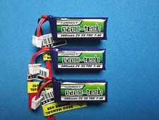 3 TURNIGY NANO-TECH 300mAh 2S 7.4V 35-70C LIPO BATTERY JST MINI MICRO QUAD PLANE