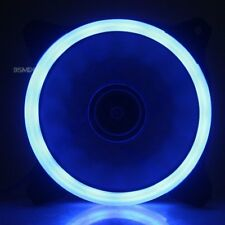 Blue LED 120mm 52CFM De-vibration Rubber DC 12V PC Computer Cooler Cooling Fan