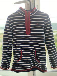 Joules Boys Reversible Fleece Jumper Quarter Zip Sweatshirt Size 11-12