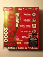 Vintage McAfee Office 2000 Software for Windows 95, 98 CD-ROM, User's Guide, Box