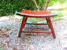 FOOT STOOL 1920's - 30's ADIRONDACK signed OLD HICKORY genuine PATINA original