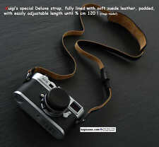 LUIGI'S FULLY LINED IN SUEDE,BLACK DELUXE STRAP,fit LEICA,NIKON,CANON,ZEISS,FUJI