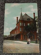 Railroad Depot, Gloversville, New York Vintage Railroad Postcard