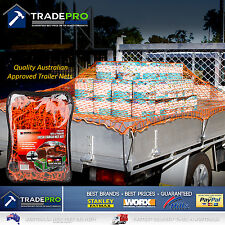 Cargo Net Ute Trailer Heavy Duty 1.8x2.4m Aust Legal with Bungee Cord 40x40 Mesh