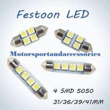 LED 12v CAR BULB 4SMD 5050 LED C5W XENON WHITE FESTOON NUMBER PLATE31 36 39 42MM