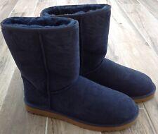 NEW UGG MENS CLASSIC SHORT BOOTS sz 15 blue shearling sheepskin