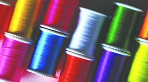GLO-BRITE FLY TYING FLOSS ASSORTED COLOURS 2 LENGTHS 25yd & 100yd REELS FLYTYING