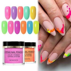 BORN PRETTY 10ml Dipping Powder Fluorescence Nail Art Kit Long Lasting NO Lamp