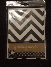 NIP NEW Canvas Corp (4 )Black & White Chevron Greeting Cards Lignin & Acid Free