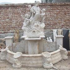 Gartenbrunnen mit Madonna, Travertinbrunnen, Brunnen mit Madonna, Brunnen,
