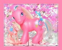 ❤️My Little Pony G3 2003 Cotton Candy Cafe Pony White Blue Hair Pink Earth❤️