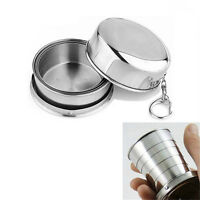Stainless Steel Portable Outdoor Travel Folding Collapsible Cup Telescopic RF