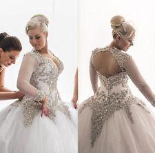 Custom Plus Size A Line Bridal Gown Wedding Dress 12-14-16-18-20-22-24-26-28++