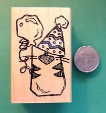 Party Animal Rubber Stamp, wood mounted
