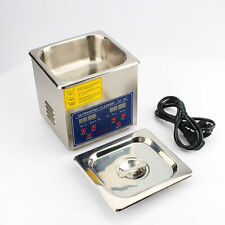 1.3L Ultrasonic Cleaner Solution Bath Wash Parts Tools Cutter Jewelry Dental