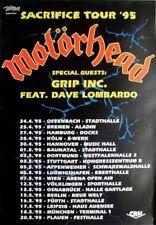 MOTÖRHEAD - 1995 - Tourplakat - Concert - Sacrfice - Tourposter