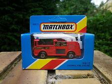 MATCHBOX LESNEY 1981 MB 13 SNORKEL FIRE ENGINE POMPIER état Neuf boite scellée