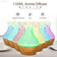 LED 7 Colour Ultrasonic Aroma Essential Oil Diffuser Air Purifier Humidifier AU