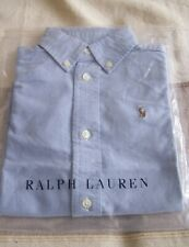 GENUINE RALPH LAUREN BOY'S BLUE OXFORD SHIRT - BNIP AGE 4 RRP £55!!
