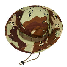 Bucket Hat Outdoor Canvas Cap Military Fishing Wide Brim Boonie Hunting Camo